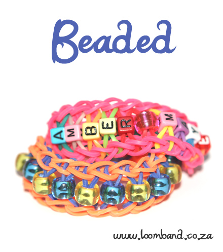 beaded loom band bracelet tutorial