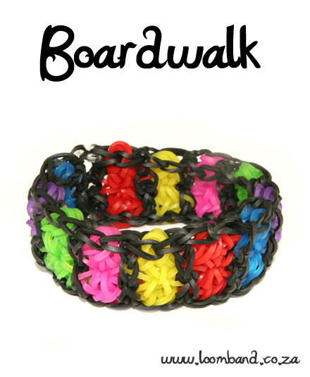 Boardwalk Loom Band Bracelet Tutorial - LoombandSA