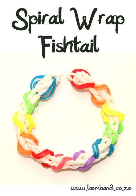 Spiral Wrap Fishtail Loom Band Bracelet Tutorial