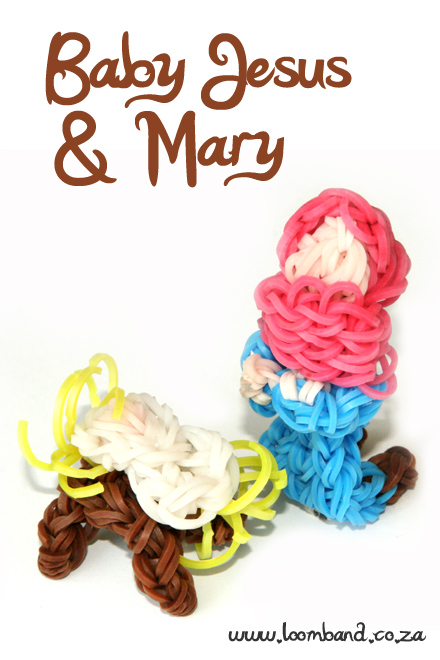 Baby Jesus and Mary loom band tutorial