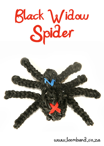 3D Spider loom band tutorial