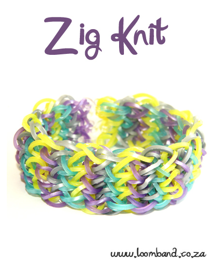 Zig Knit Loom Band Bracelet Tutorial