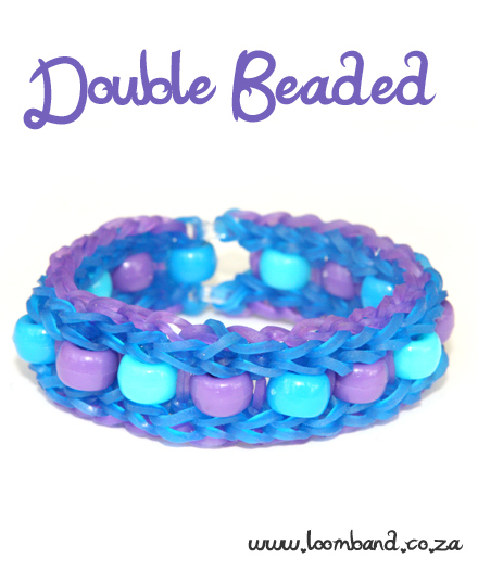Delicate Beaded Double Bracelet loom band tutorial