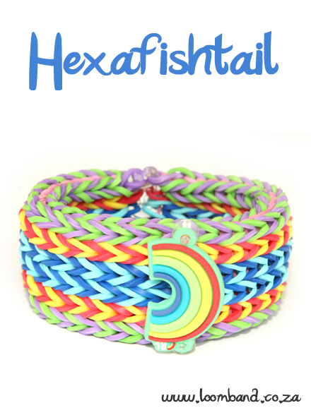 Hexafishtail Bracelet loom band tutorial - loomband SA