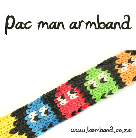 Pac Man armband loom band tutorial - loomband SA
