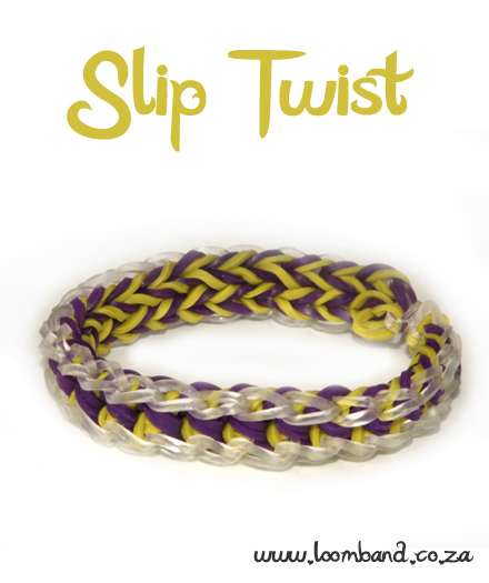 Slip Twist Loom Band Bracelet Tutorial - loomand SA