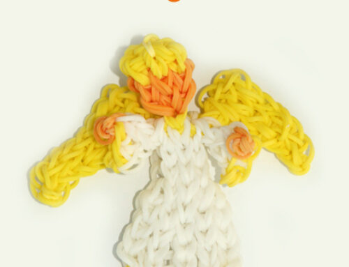 Angel Nativity series loom band tutorial