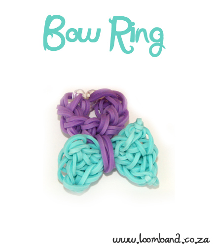Bow Ring Loom Band tutorial - LoombandSA