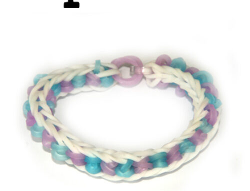 Illusion Loom Band Bracelet tutorial