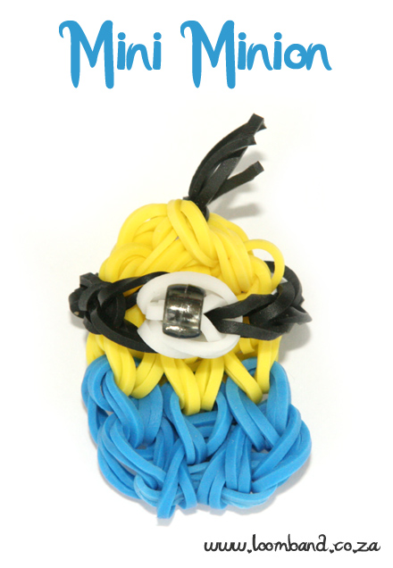 Mini Minion Loom Band tutorial - Loomband SA