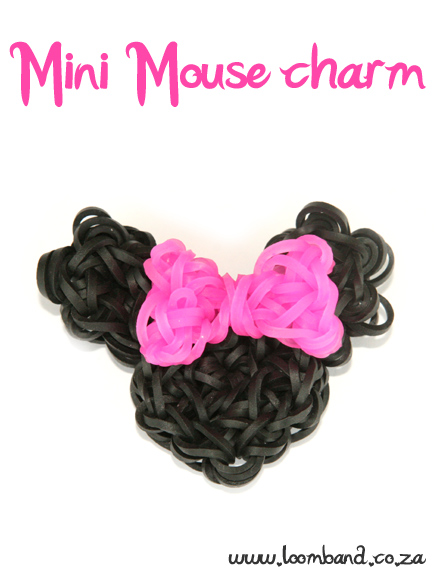 Minnie Mouse charm loom band tutorial - LoombandSA