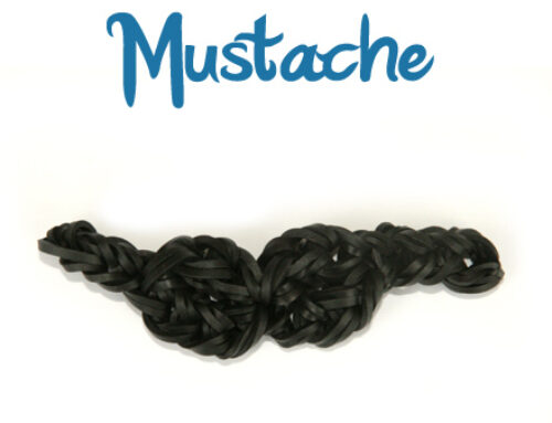 Mustache Loom Band Charm tutorial