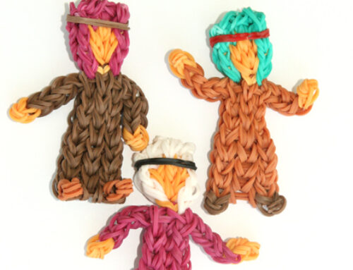 Shepherds Nativity series loom band tutorial