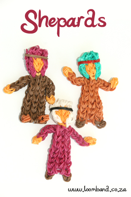 Shepherds Nativity series loom band tutorial - loombandSA