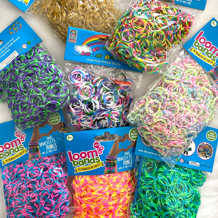Polka dot loom band set 8 pack